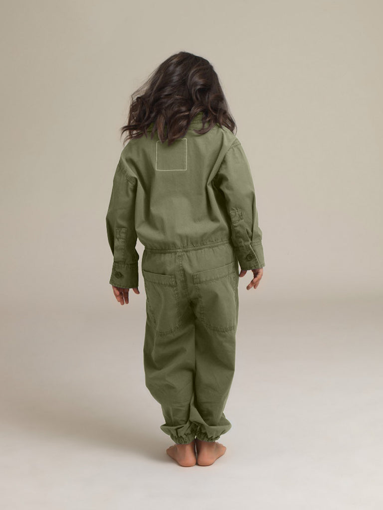 Kids Khaki Shirtweight Boilersuit