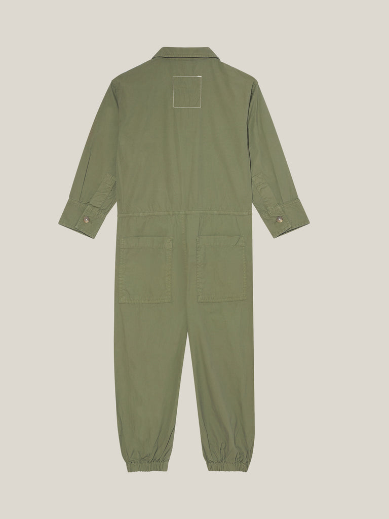 Toddlers' Khaki Shirtweight Boilersuit