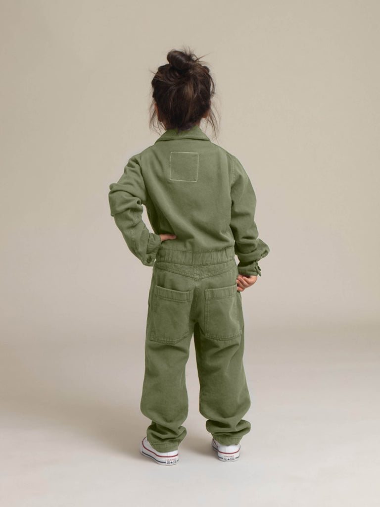 Toddlers' Khaki Twill Boilersuit