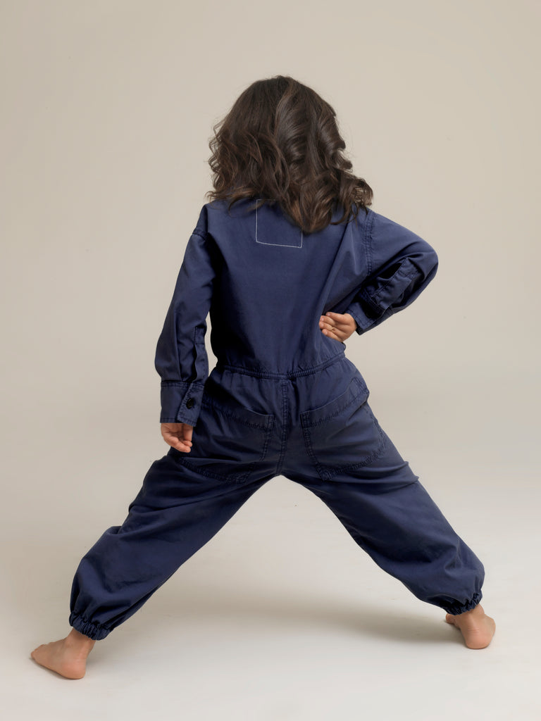Toddlers' Blue Shirtweight Boilersuit