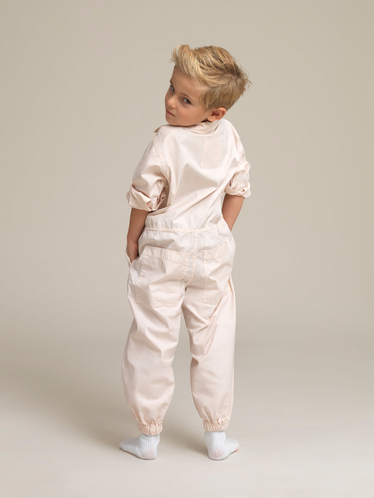 Toddlers' Pink Shirtweight Boilersuit