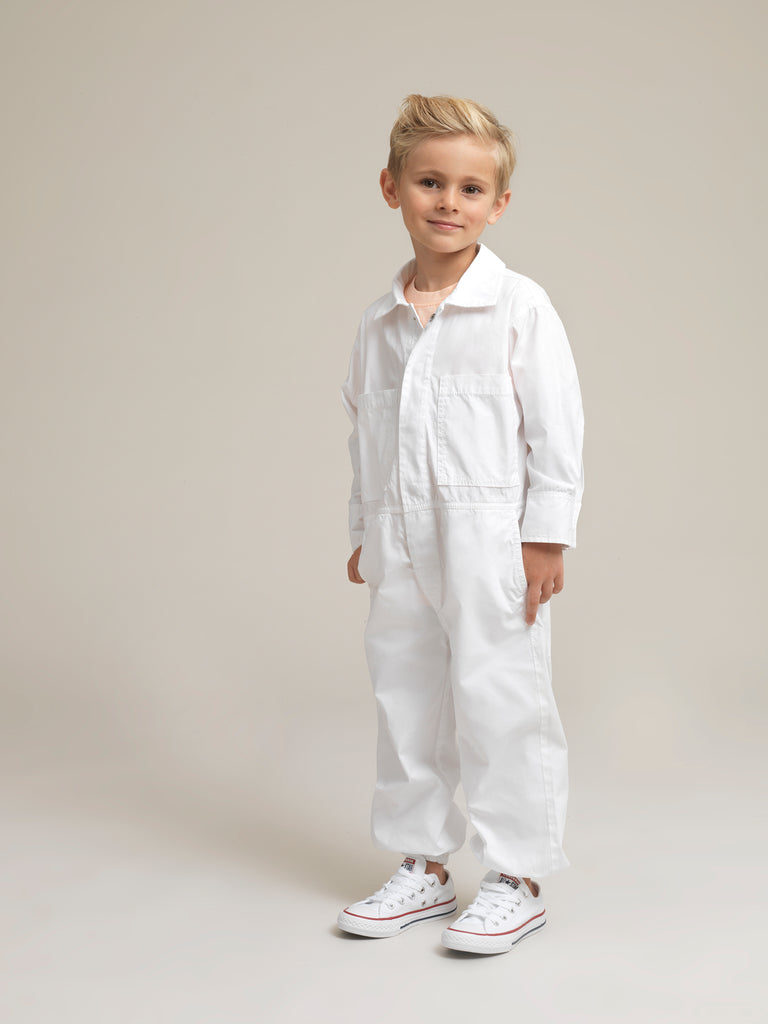 Toddlers' White Shirtweight Boilersuit