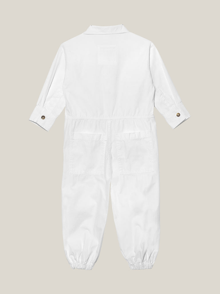 Kids' White Shirtweight Boilersuit