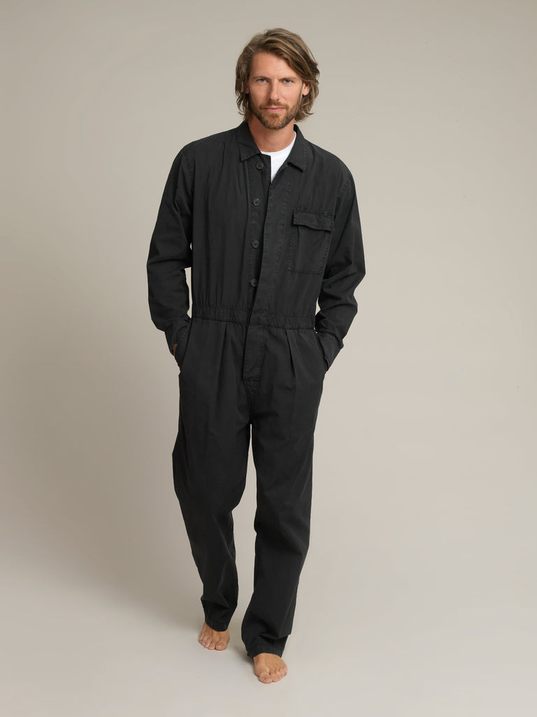 Men's Black Shirtweight Boilersuit
