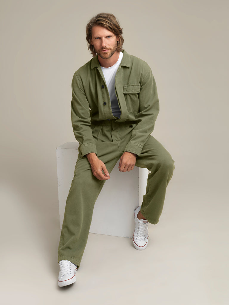 Men's Khaki Twill Boilersuit