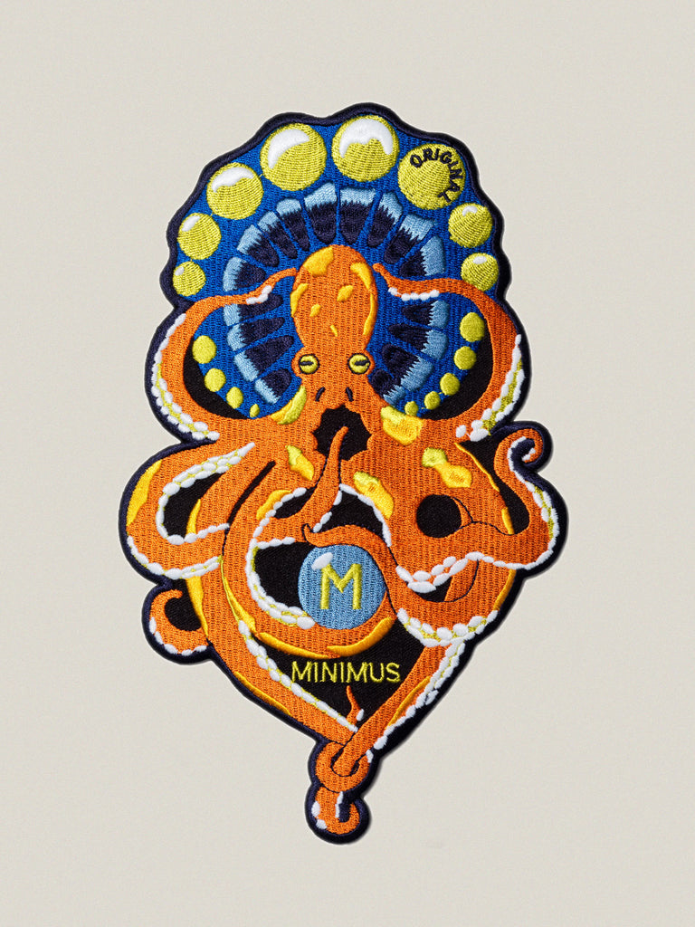 Large iron-on embroidered badge: Original Octopus