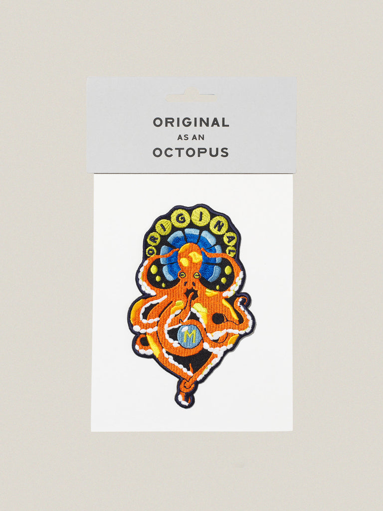 Small iron-on embroidered badge: Original Octopus