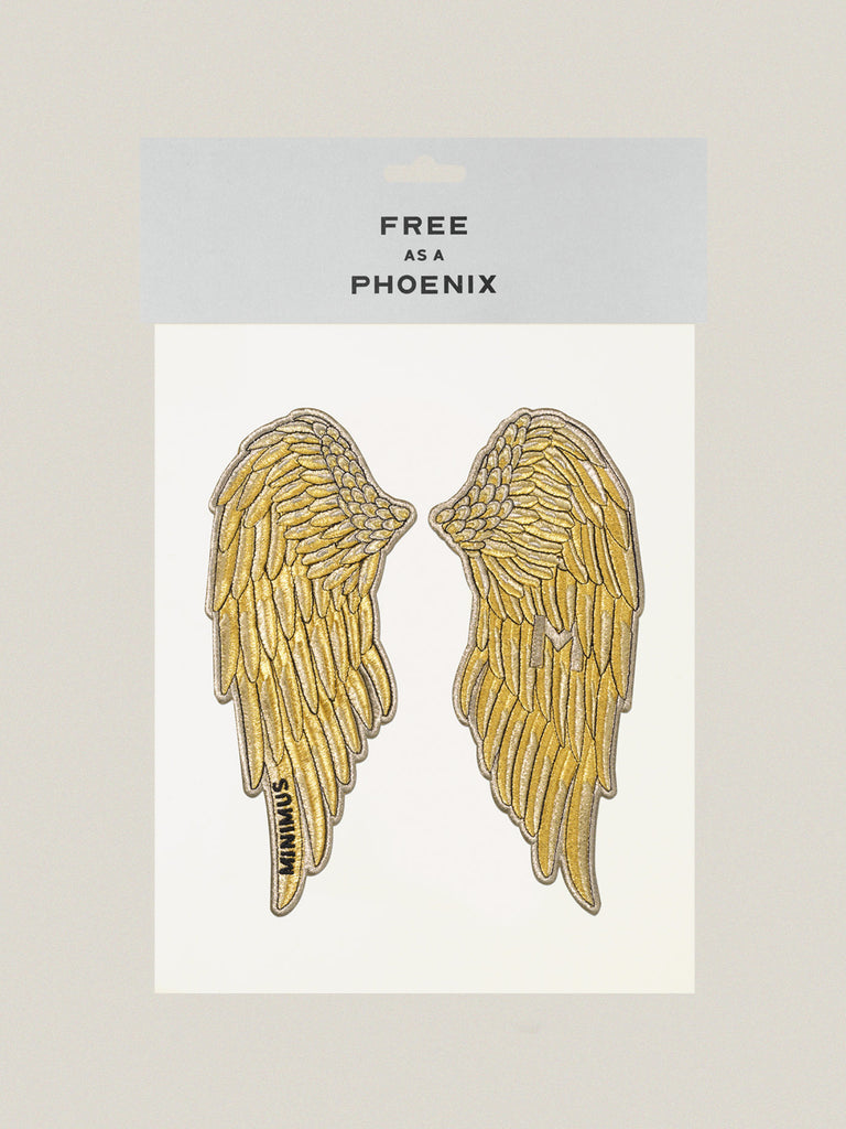 Large iron-on embroidered badge: Free Phoenix