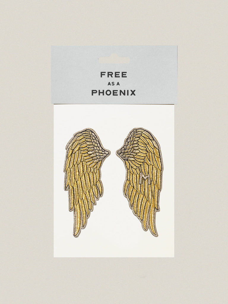 Small iron-on embroidered badge: Free Phoenix