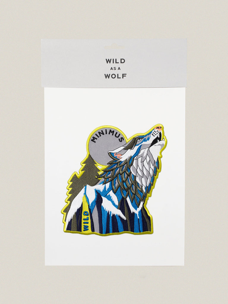Large Iron-on Embroidered Wild Wolf Badge
