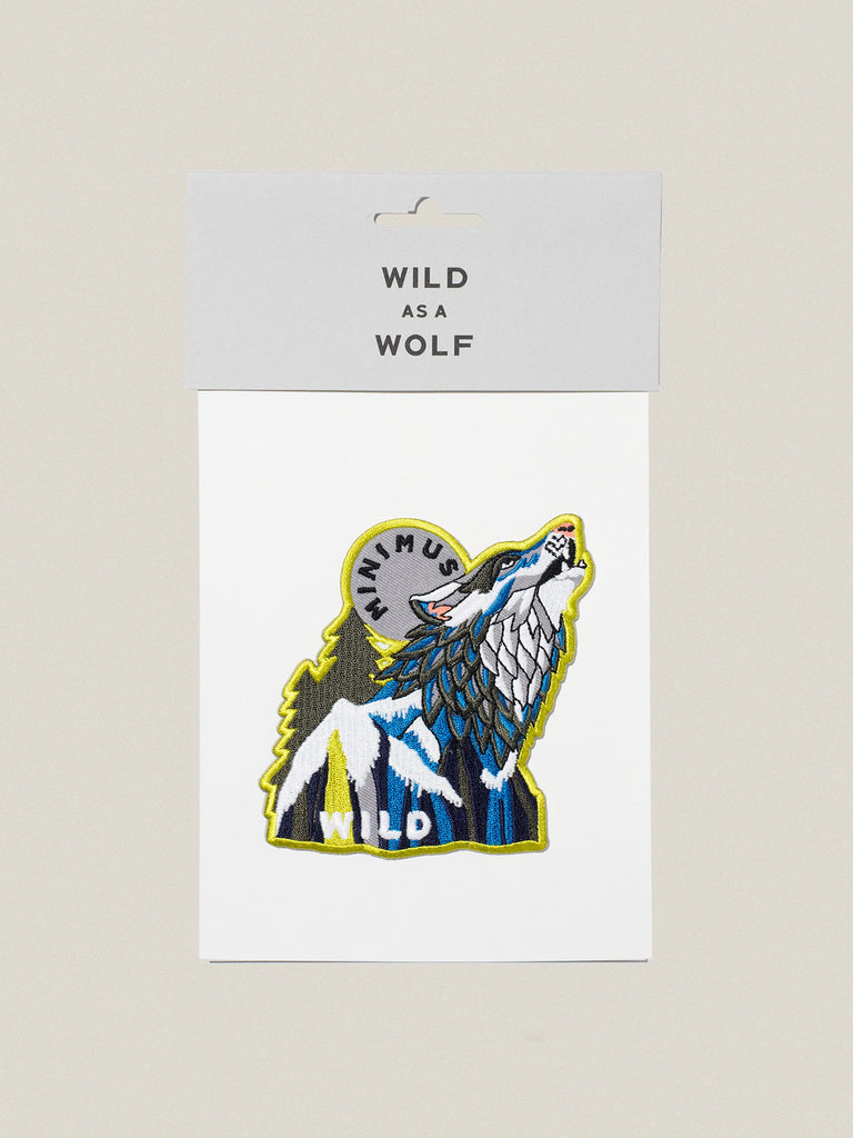 Small Iron-on Embroidered Badge: Wild Wolf
