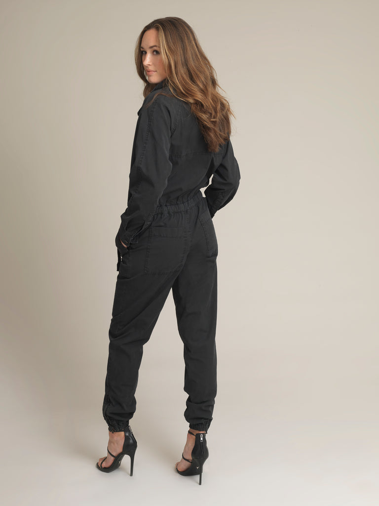 Women's Black Shirtweight Boilersuit