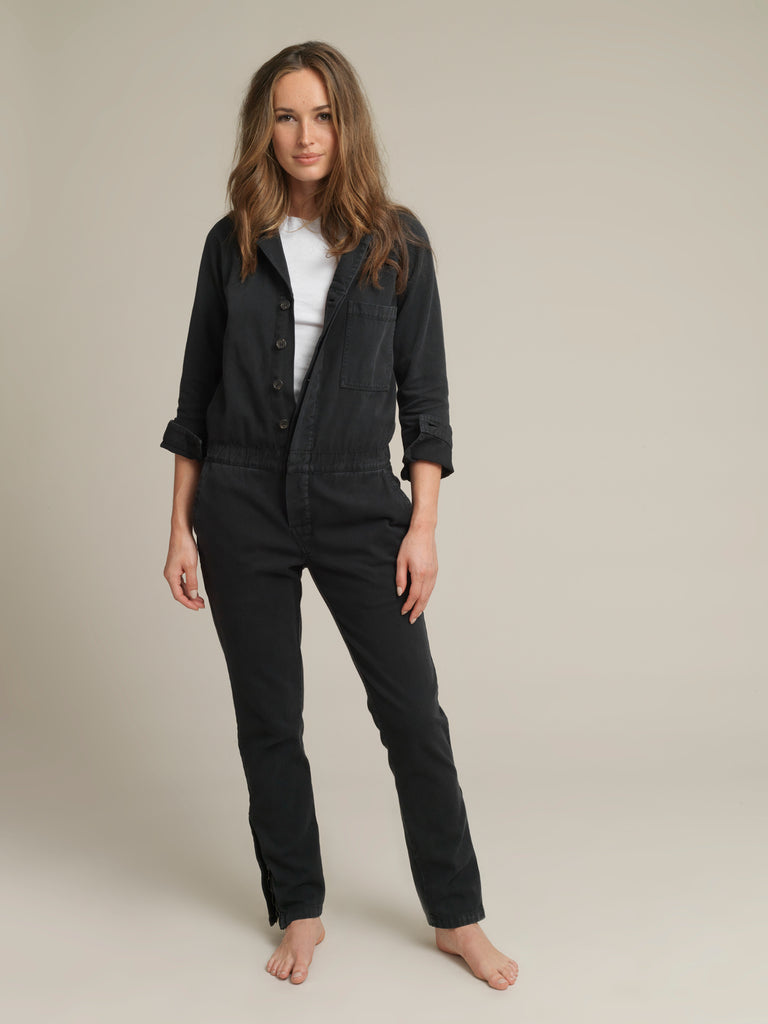 Women's Black Twill Canvas