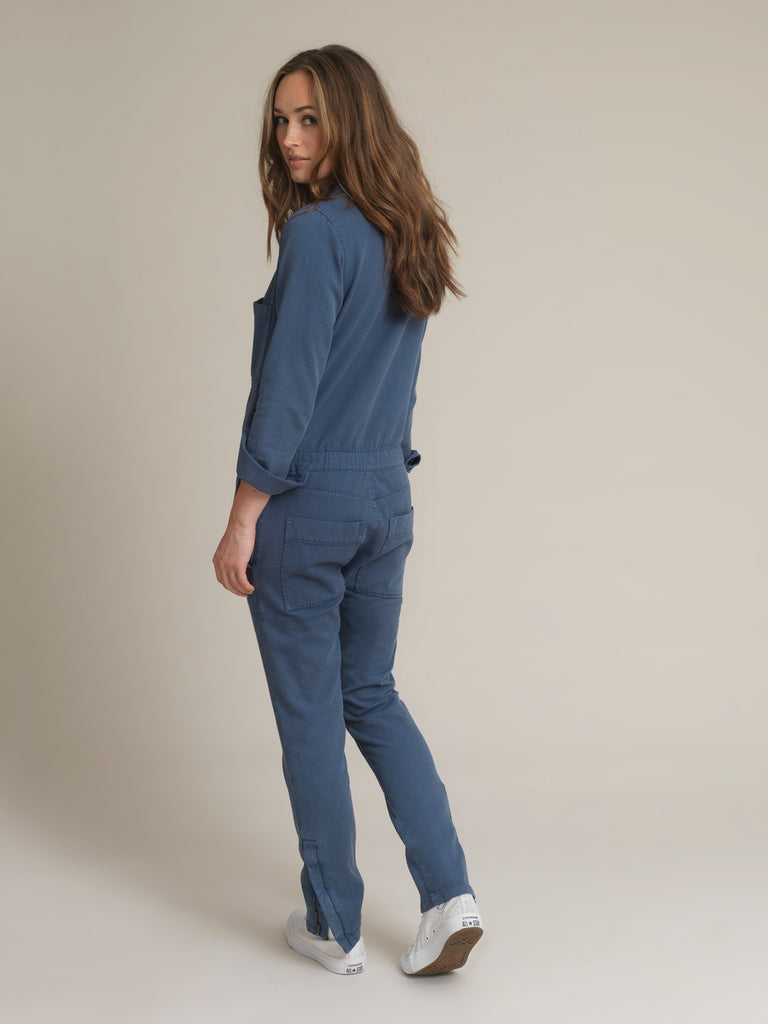 Women's Blue Twill Boilersuit