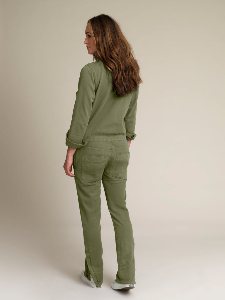 Women's Khaki Twill Boilersuit