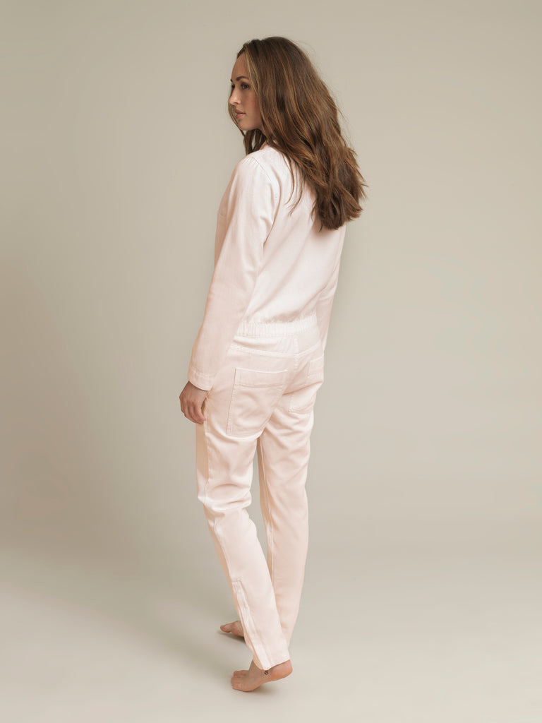 Women's Pink Twill Boilersuit