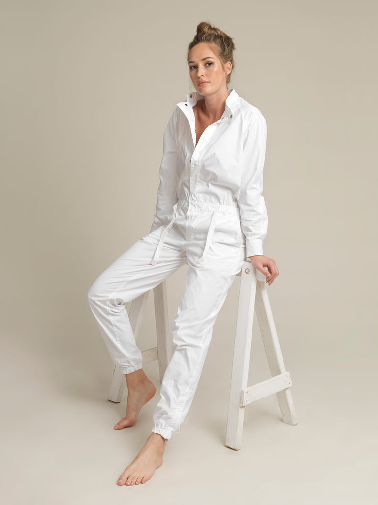 Women's White Shirtweight Boilersuit