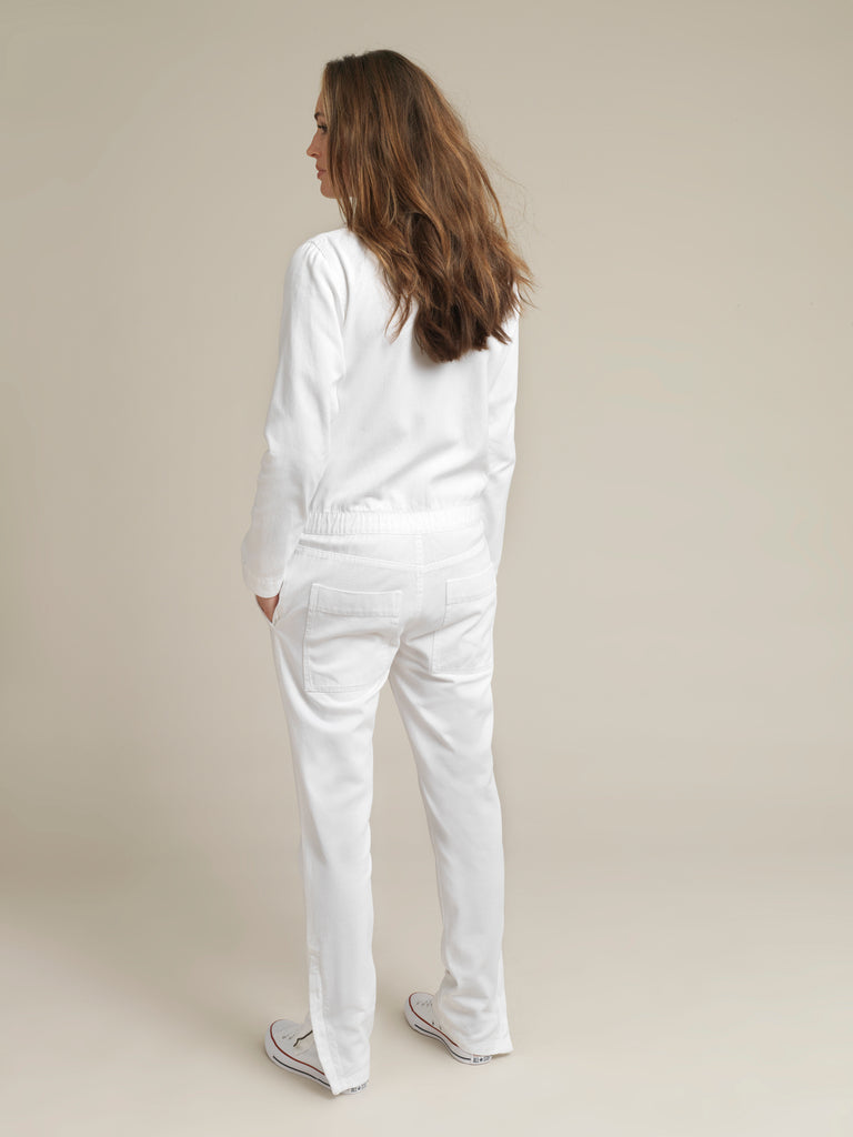 Women's White Twill Canvas