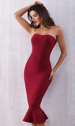 Sleeveless Strapless Dress
