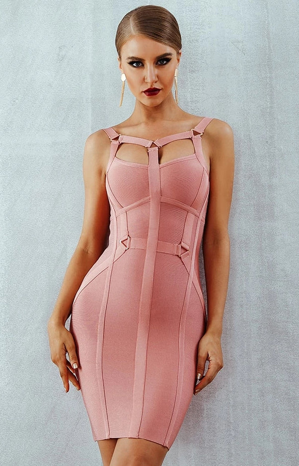Spaghetti Strap Bandage Dress