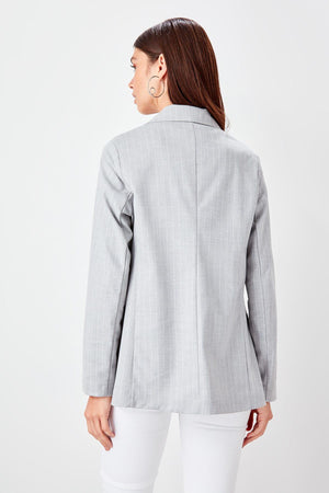 Gray Striped Jacket