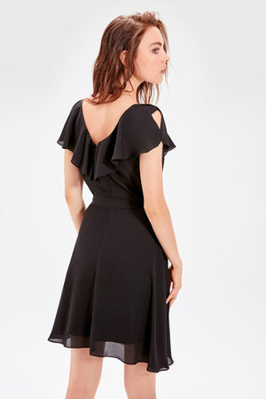 Black Lacing Detail Dress