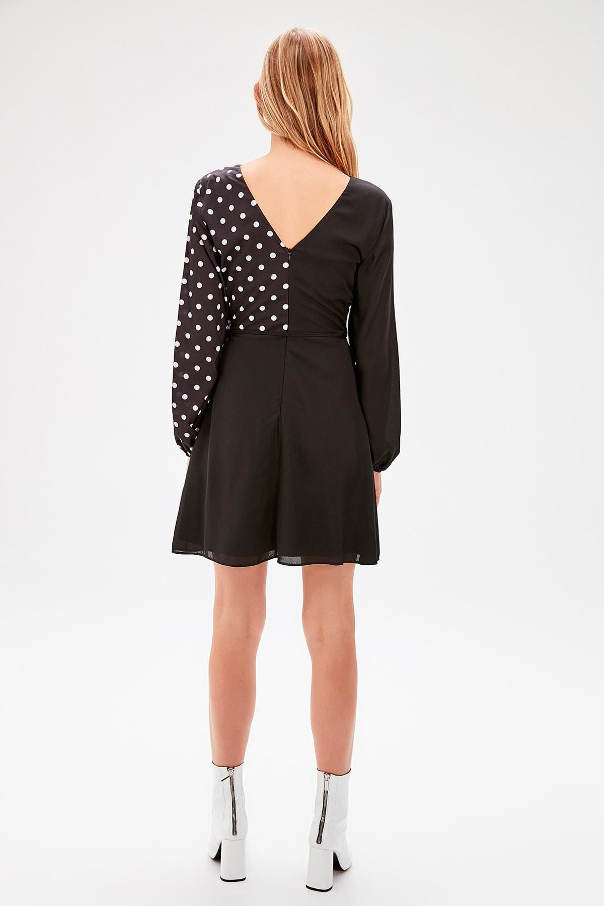 Black Polka Dot Dress - emuuz.com