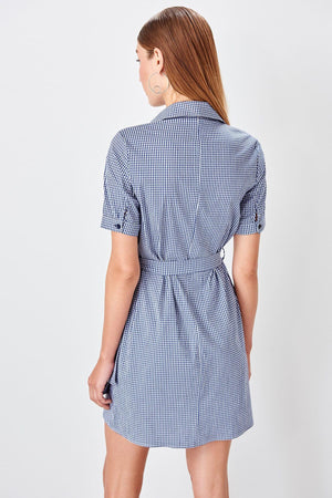 Blue Shirt Dress - emuuz.com