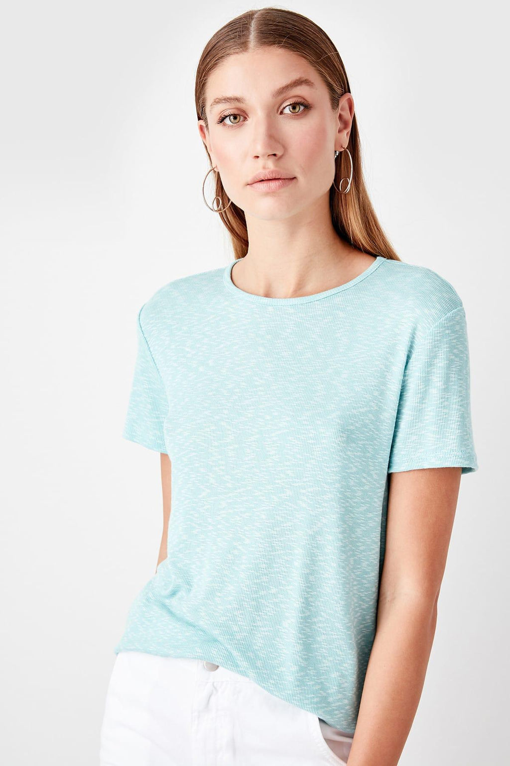 Mint Basic Knitted T-Shirts