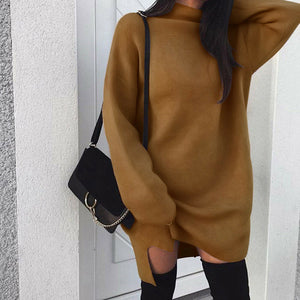 Turtleneck Mini Sweater Dress