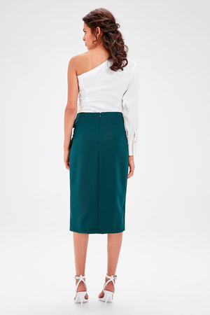 Emerald green Lacing Skirt - emuuz.com