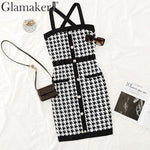 Knitted Cross Straps Dress