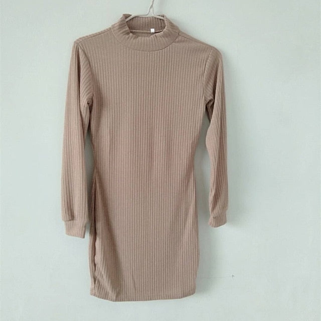 Midi Knitted Sweater Dress