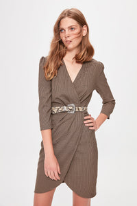 Multicolour Goose Floor Standing Belted Dress