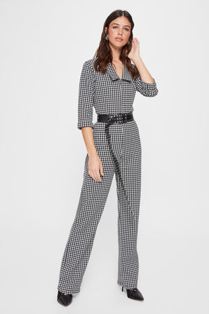 Crowbar Patterned Knitted Jumpsuit