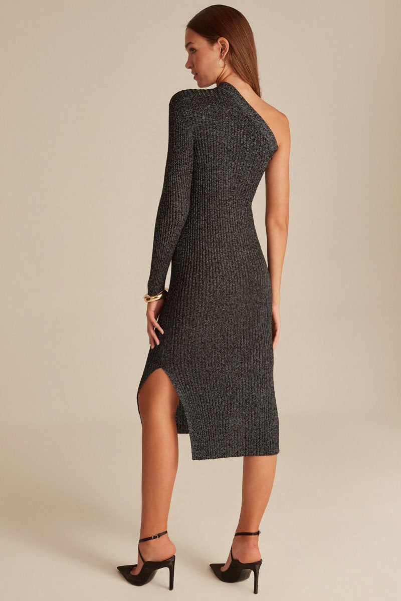 One Sleeve Knitted Dress