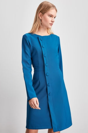 Button Detail Dress