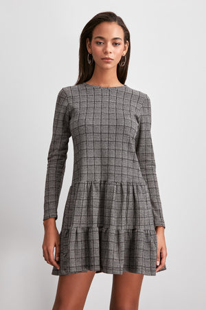 Plaid Knitted Dress