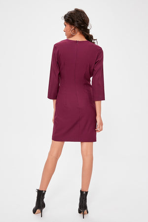 Damson Buckle Detail Dress