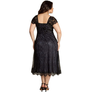 Floral Lace Dress Plus Size