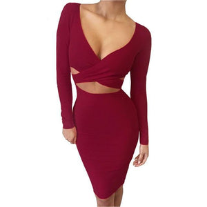 Midi Pencil Bandage Dress