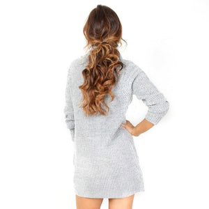 Turtleneck Knitted Sweater Dress