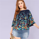 Floral Navy Blouse