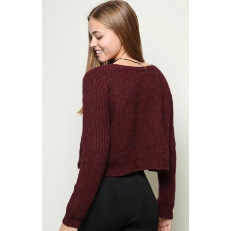 Knitted Side Slit Sweater