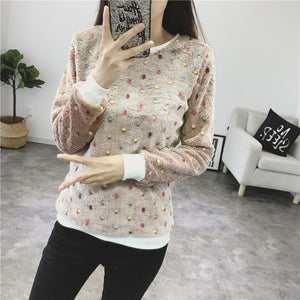 O-neck long-sleeved Sweater