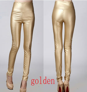 Faux Leather Pencil Leggings