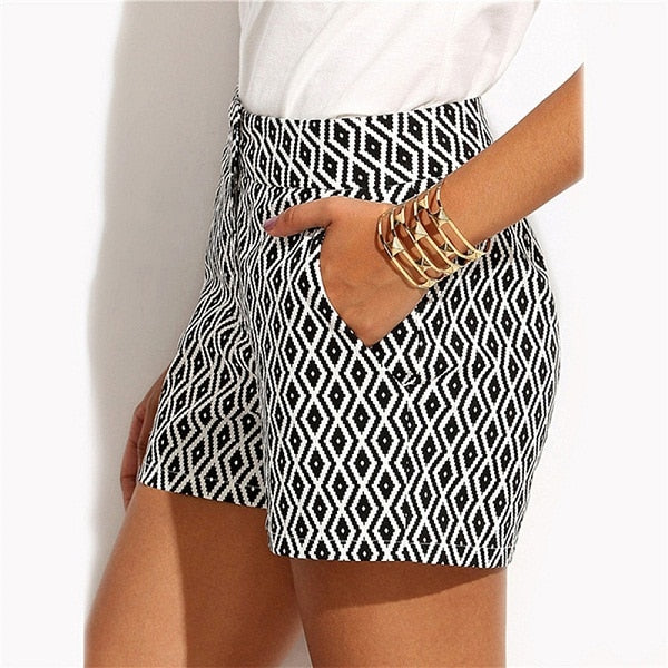 Mid Waist Casual Shorts