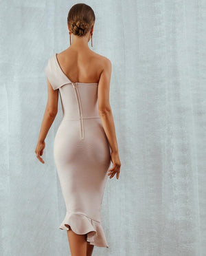 One Shoulder Bandage Dress