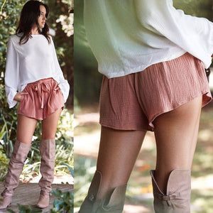 High Waist Shorts With Belt