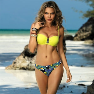 Yellow Push Up Bikini